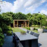 tuinaanleg moderne tuin